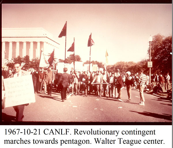 Revolutionary Contingent starts march to the Pentagon, Oct. 21, 1967.